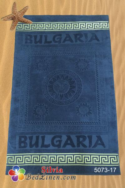 Плажна кърпа България - мастилено синя